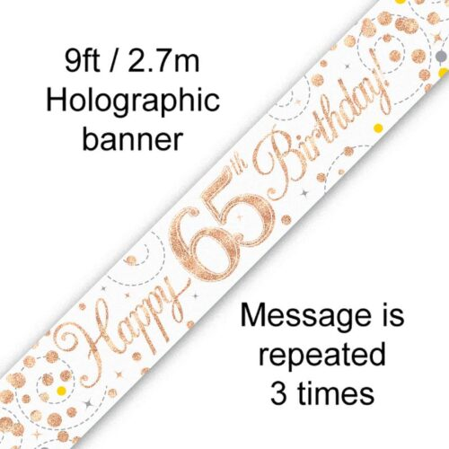 Banner Rose Gold Fizz 65th
