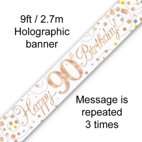 Banner Rose Gold Fizz 90th