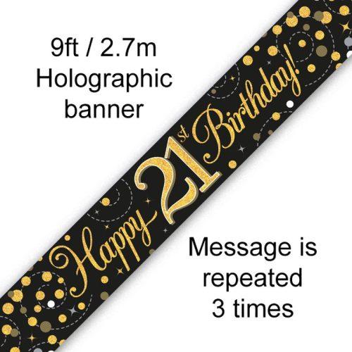 Banner Black Fizz 21st