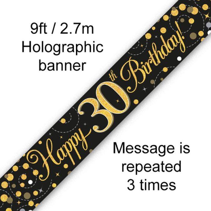 Banner Black Fizz 30th