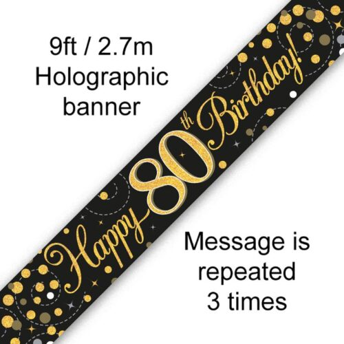 Banner Black Fizz 80th