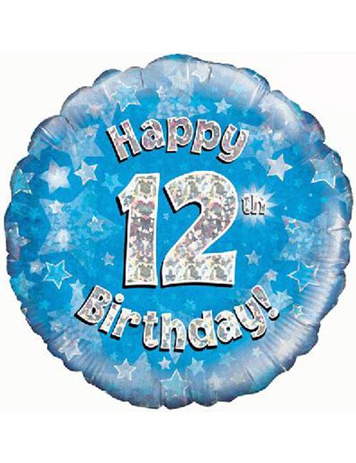 12th Foil Birthday Balloon