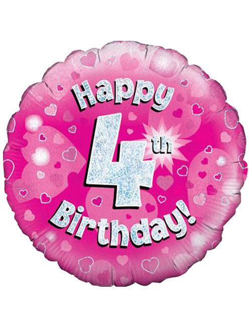 Pink 4th Foil Balloon