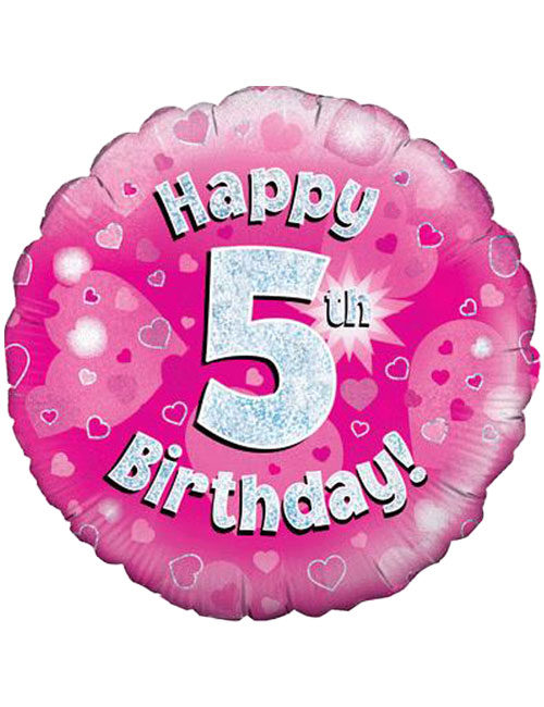 Pink 5th Foil Balloon