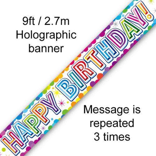 Confetti Birthday Banner