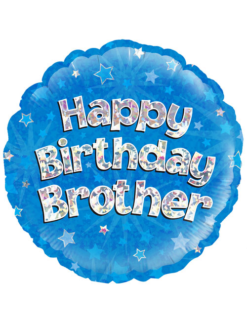 "18"" Blue Birthday Brother"