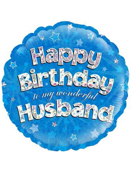 "18"" Blue Birthday Husband"