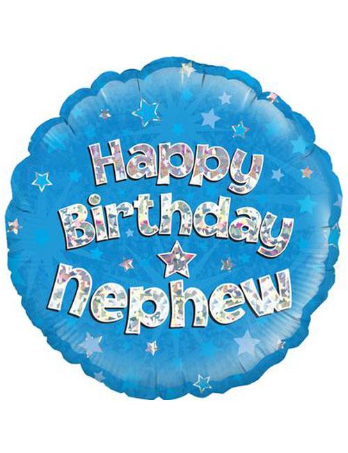 "18"" Blue Birthday Nephew"