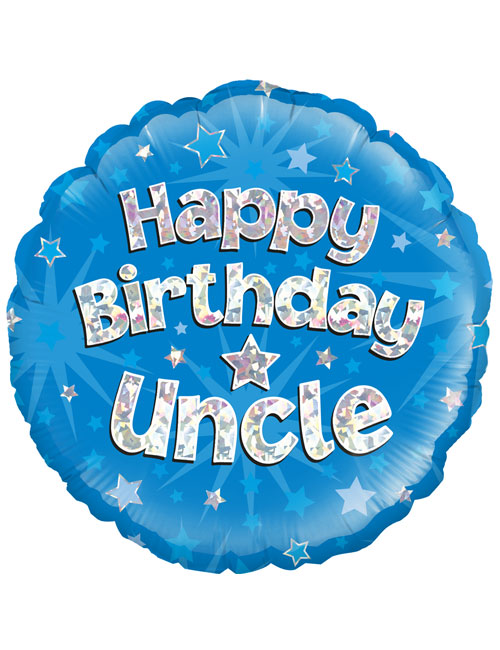 """18"""" Blue Birthday Uncle"""