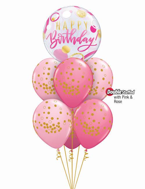 Gold Dots Pink Bouquet
