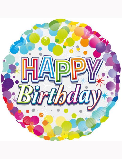 Happy Birthday Confetti Dots Balloon