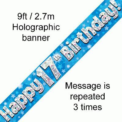 Blue 17th Banner