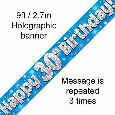 Blue 30th Banner