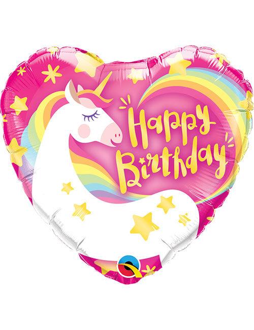 18inch Happy Birthday Magical Unicorn Balloon