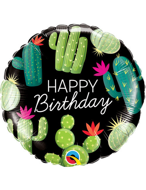 18inch Happy Birthday Cactuses Balloon