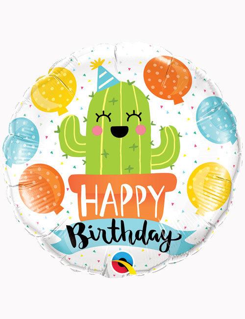 18inch Happy Birthday Party Cactus Balloon