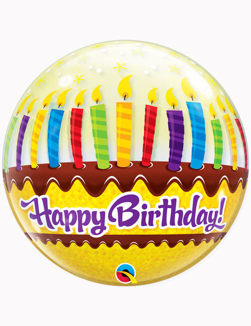 "22"" Bubble Birthday Candles & Frosting"