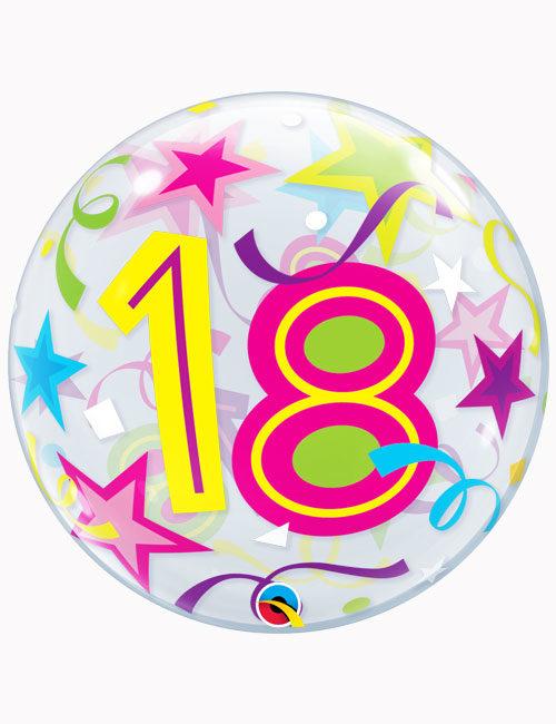 """22"""" Bubble 18th Brilliant Stars"""
