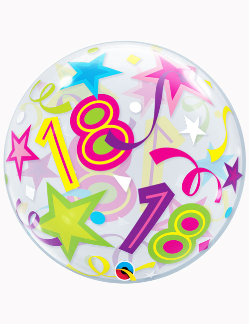 "22"" Bubble 18th Brilliant Stars"