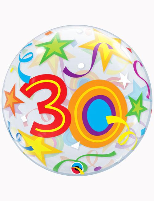 """22"""" Bubble 30th Brilliant Stars"""