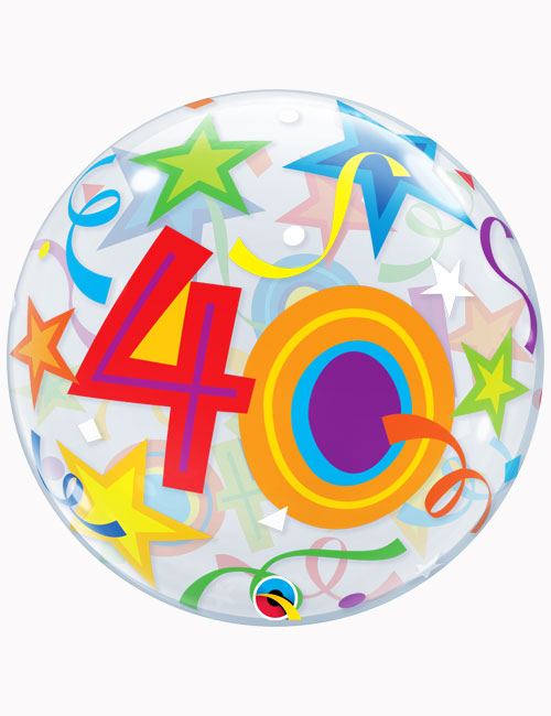 """22"""" Bubble 40th Brilliant Stars"""