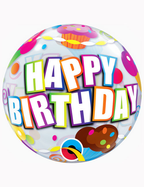 "22"" Bubble Birthday Cupcakes"