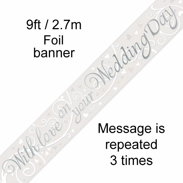 9ft Banner With Love on your Wedding Day