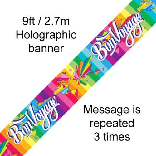 9ft Banner Bon Voyage