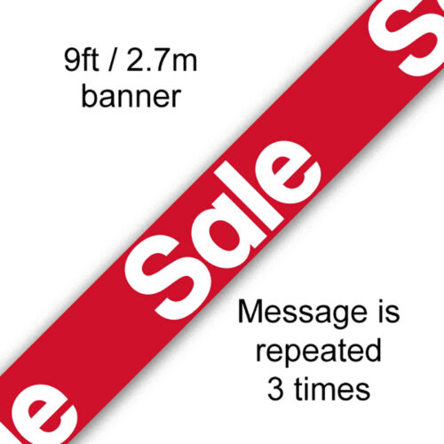 9ft Banner Sale