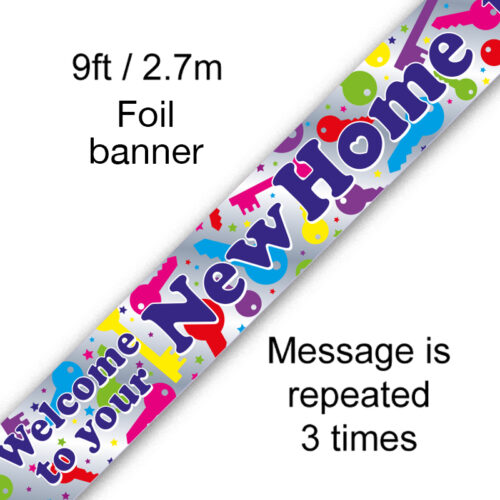 9ft Banner Welcome to your New Home