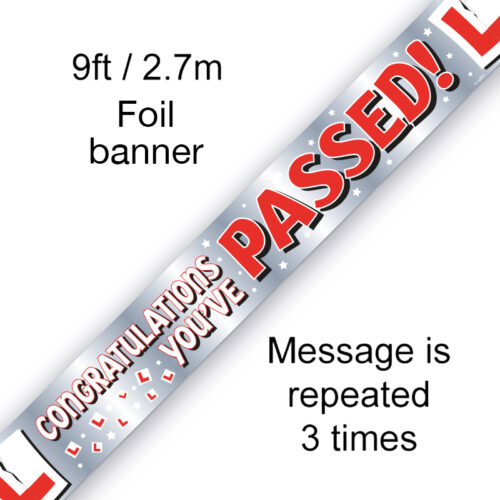 9ft Banner Congratulations You've Passed!
