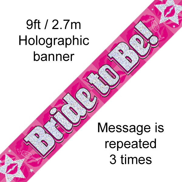 9ft Banner Bride to Be