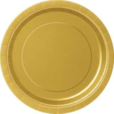"9"" Dinner Plates x 8 Gold"