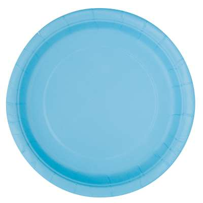 "9"" Dinner Plates x 8 Powder Blue"