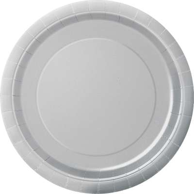 "9"" Dinner Plates x 8 Silver"