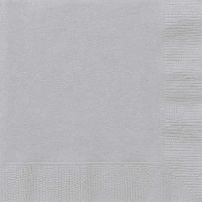 Luncheon Napkins x 20 Silver