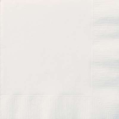 Luncheon Napkins x 20 White