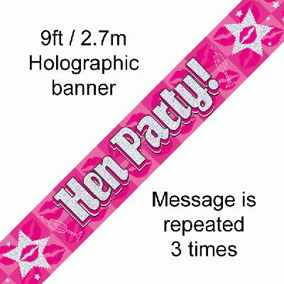 9ft Banner Hen Party!