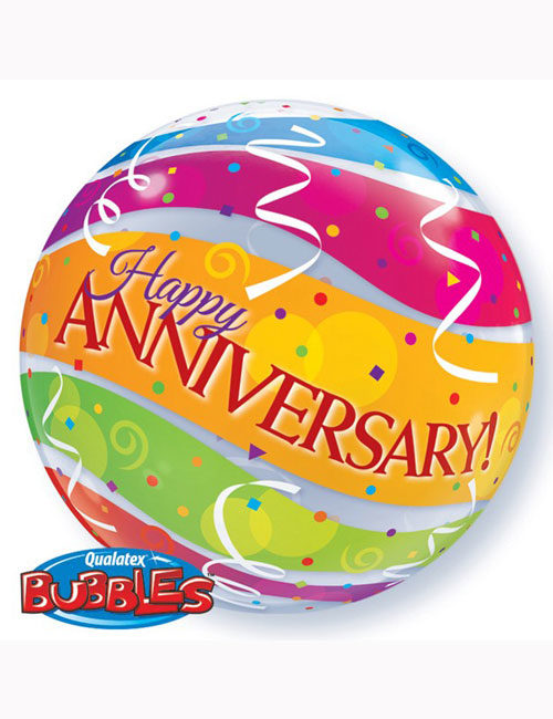 "22"" Bubble Anniversary Colourful Bands"