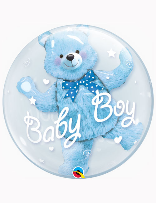 "24"" Double Bubble Baby Blue Bear"