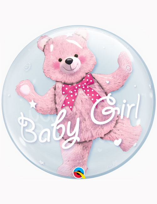"24"" Double Bubble Baby Pink Bear"