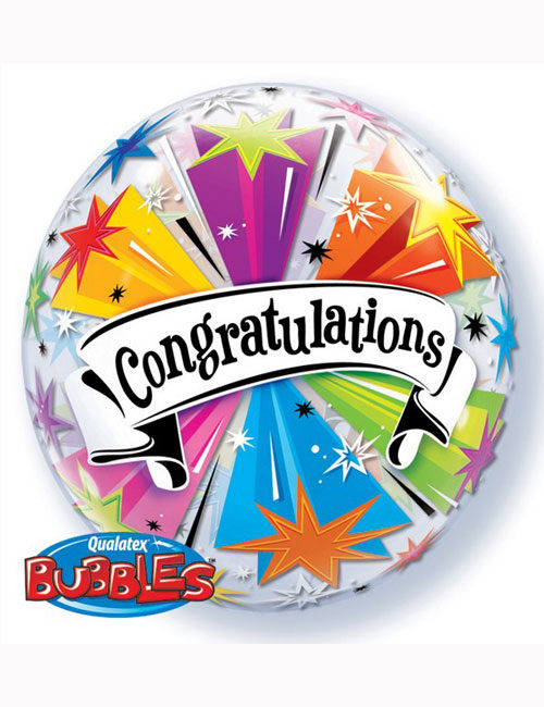 Bubble Balloon Congratulations Banner Blast 22""
