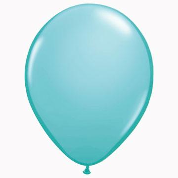 """11"""" Plain Caribean Blue Latex Balloons (Pack 6)"""