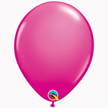 "11"" Plain Fashion Wild Berry Latex Balloons (Pack 6)"