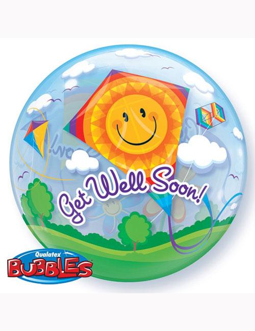 "Bubble Balloon Get Well Soon Kites 22"""