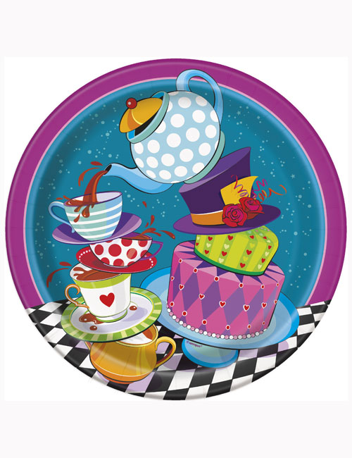 Mad Hatter Tea Party Plates (Pack of 8)