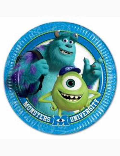 Monsters Inc Party Plates (Pack of 8)