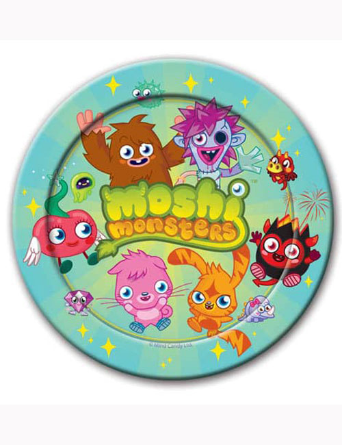 Moshi Monster Party Plates 23cm (Pack of 8)