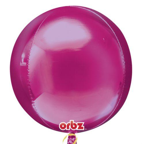 "Orbz Foil Balloon 15"" x 16"" Bright Pink"