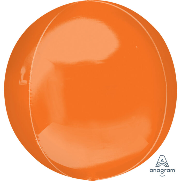 "Orbz Foil Balloon 15"" x 16"" Orange"